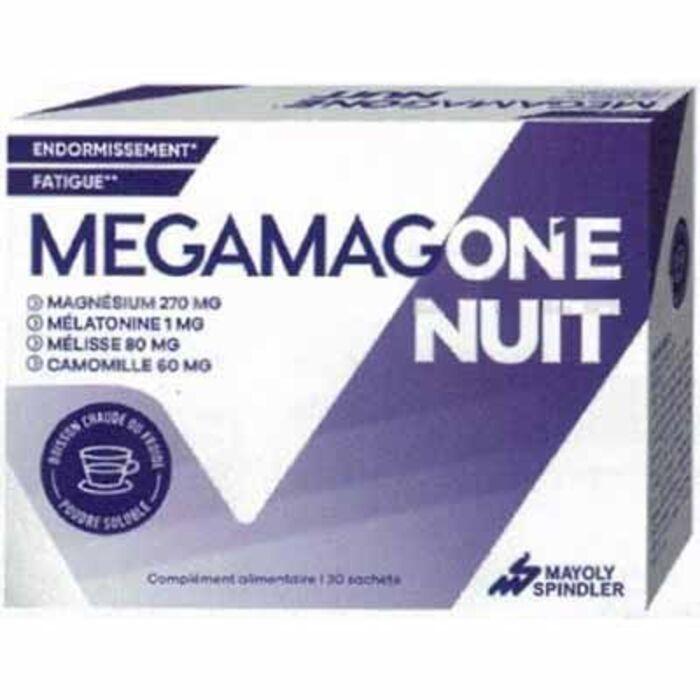 Megamagone nuit 30 sachets Mayoly spindler-223536