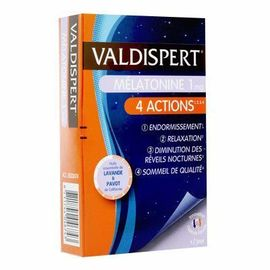 Mélatonine 1 mg 4 actions 30 capsules - valdispert -215547