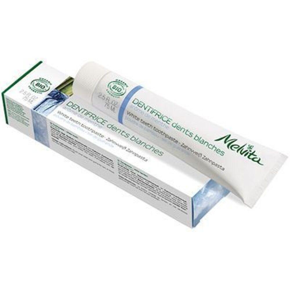 Melvita dentifrice dents blanches bio 75ml - dentifrices aux arômes logo naturels - melvita -213451