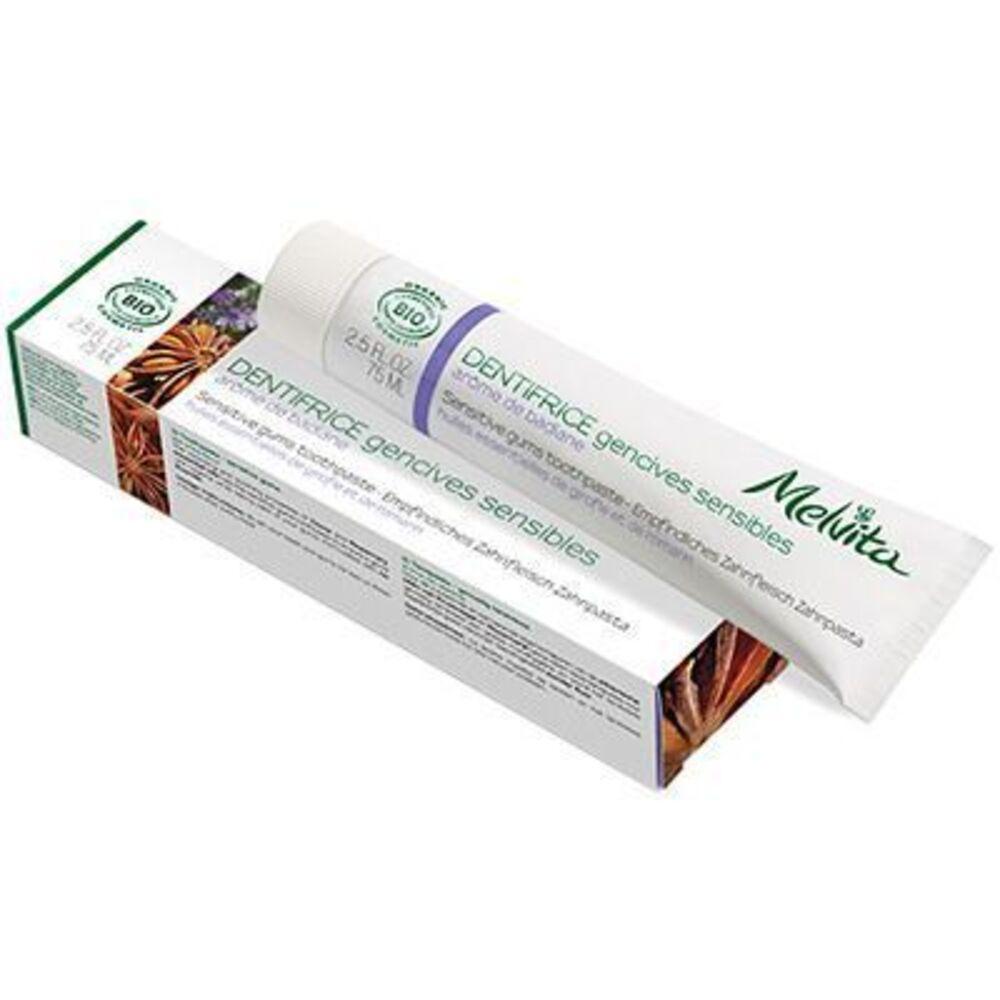 Melvita dentifrice gencives sensibles bio 75ml - dentifrices aux arômes logo naturels - melvita -213450