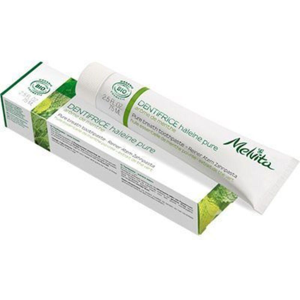 Melvita dentifrice haleine pure bio 75ml - dentifrices aux arômes logo naturels - melvita -213449
