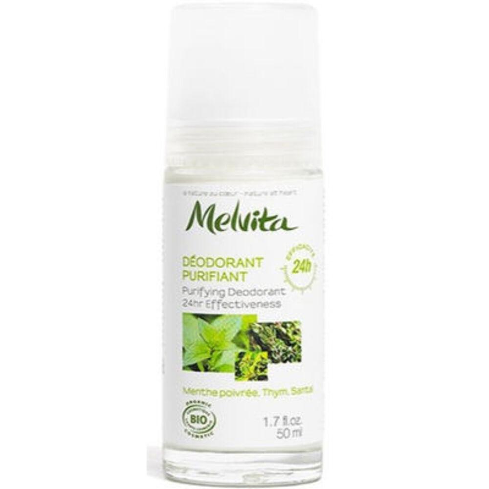 MELVITA Déodorant Purifiant Efficacité 24h Bio 50ml - déodorants sans sel d'aluminium ni paraben - Melvita -213454
