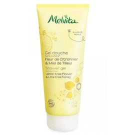 Melvita gel douche fleur citronnier & miel de tilleul bio 200ml - gels douche miels et fleurs - melvita -213435