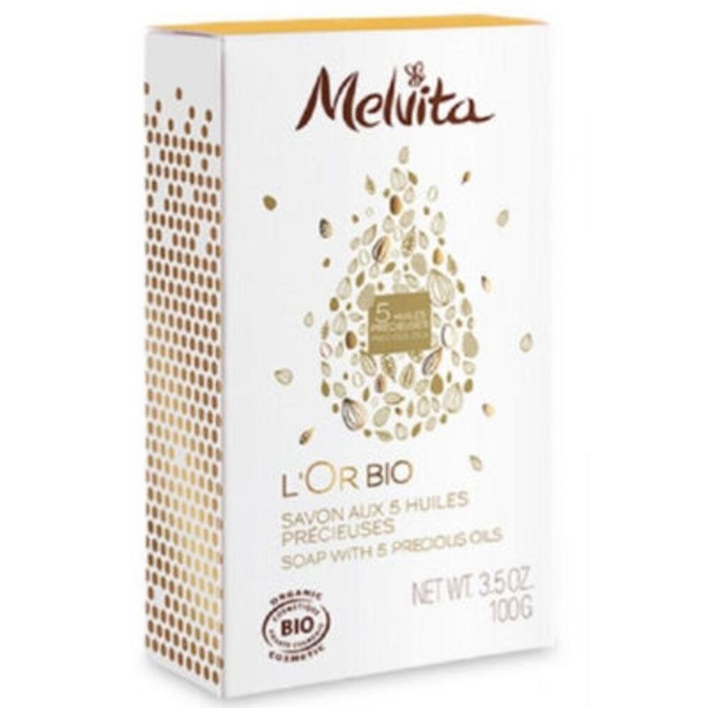 Melvita l'or bio savon aux 5 huiles précieuses bio 100g - or bio - melvita -213434