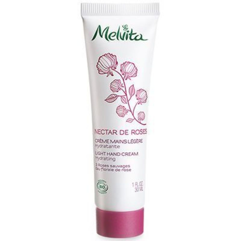 Melvita nectar de roses crème mains légère 30ml - nectar de roses - melvita -213384