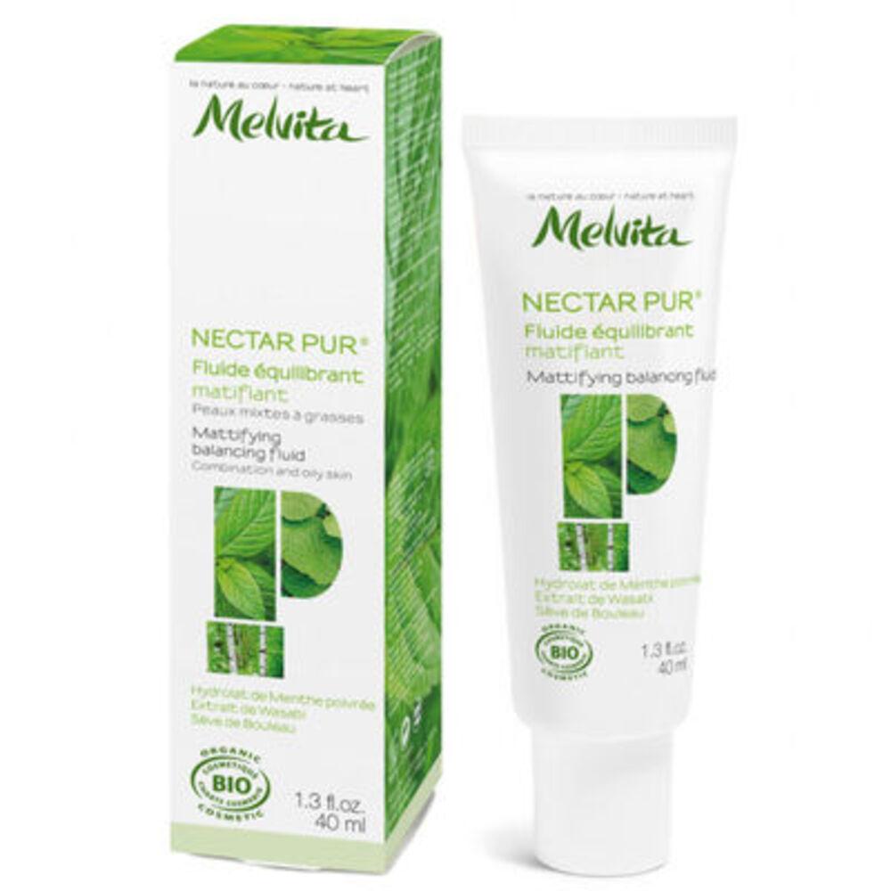 Melvita nectar pur fluide equilibrant matifiant bio 40ml - nectar pur - melvita -213389