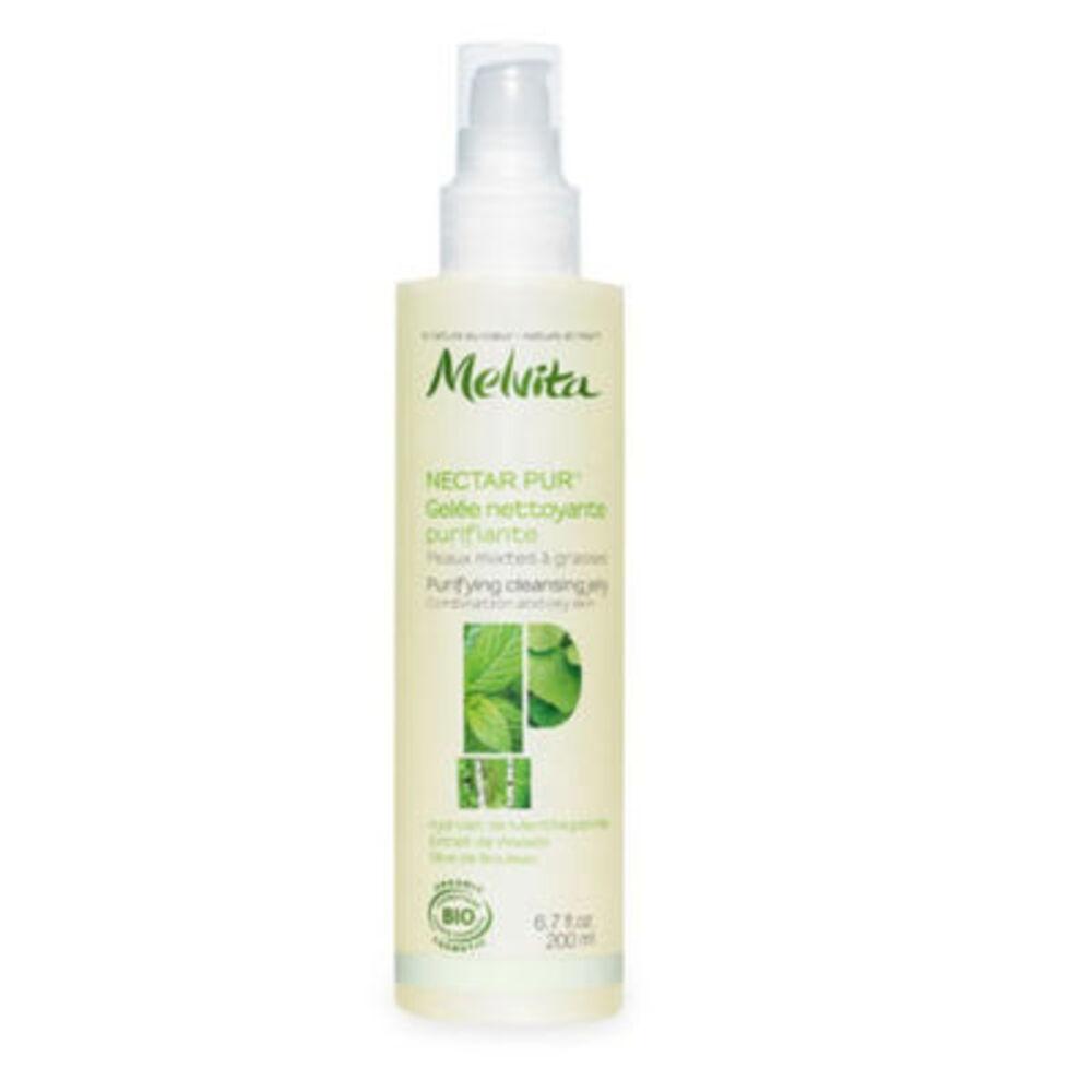 Melvita nectar pur gelée nettoyante purifiante bio 200ml - nectar pur - melvita -213388
