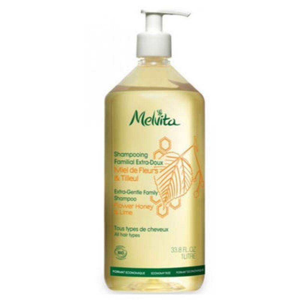 MELVITA Shampooing Familial Extra Doux Bio 1L - les shampooings et demelants - Melvita -213462