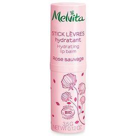 Melvita stick lèvres hydratant rose sauvage bio 3,5g - nectar de roses - melvita -213385