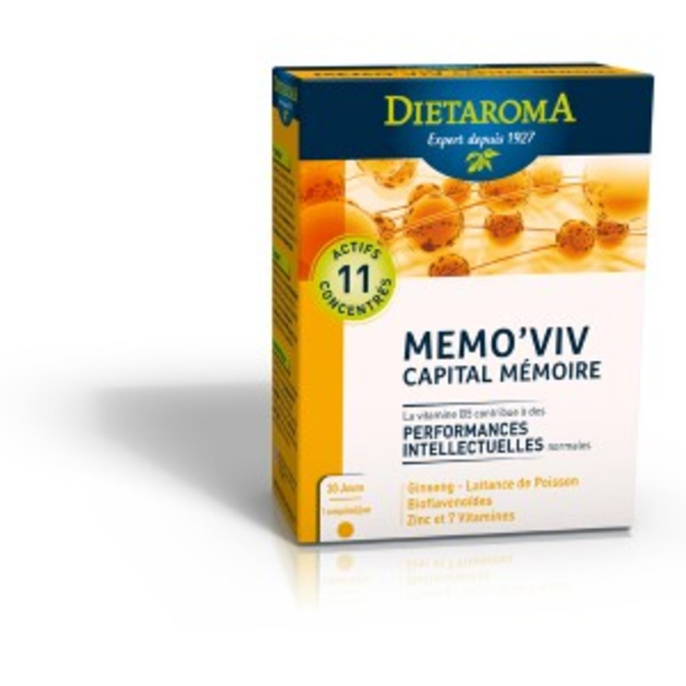 Mémo'viv - complexe capital mémoire - 30.0 unites - anti-âge /bien être - diétaroma -6433