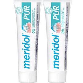 Meridol pur dentifrice 2x75ml - méridol -225947