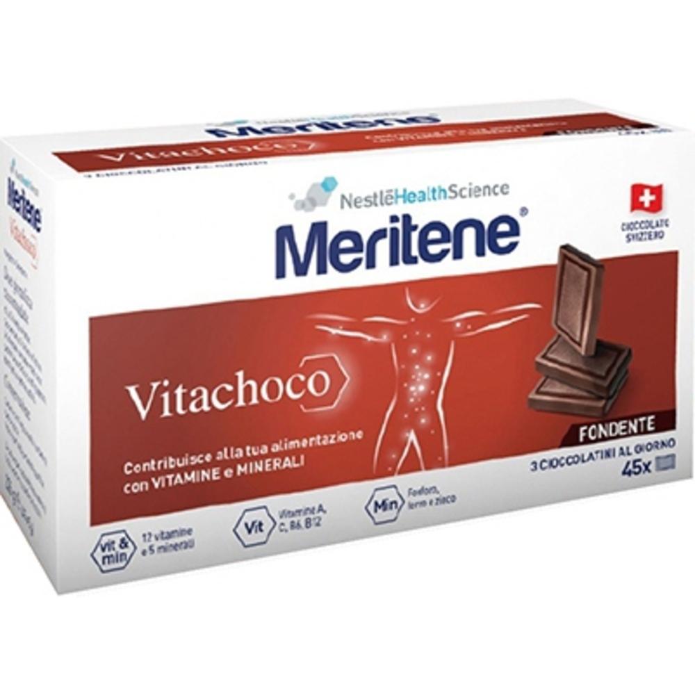 MERITENE Vitachoco chocolat noir - 30 carrés - Meritene -211010