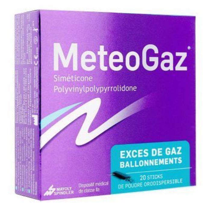 Meteogaz 20 sticks de poudre orodispersible Mayoly spindler-216539