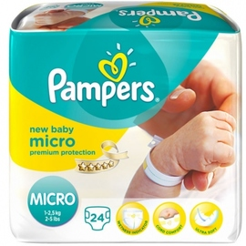 Micro 1-2,5kg taille 0 - 24 couches - pampers -198852