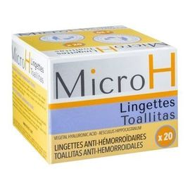 Micro h lingettes hémorroïdaires x20 - diepharmex -220992