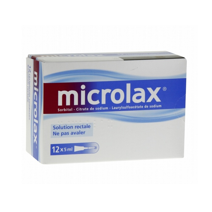 Microlax solution rectale - 12 unidoses Johnson & johnson-194067