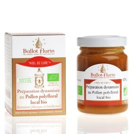 Miel de cure - miel châtaigne et pollen frais bio - 125.0 g - pollen - ballot flurin -11570