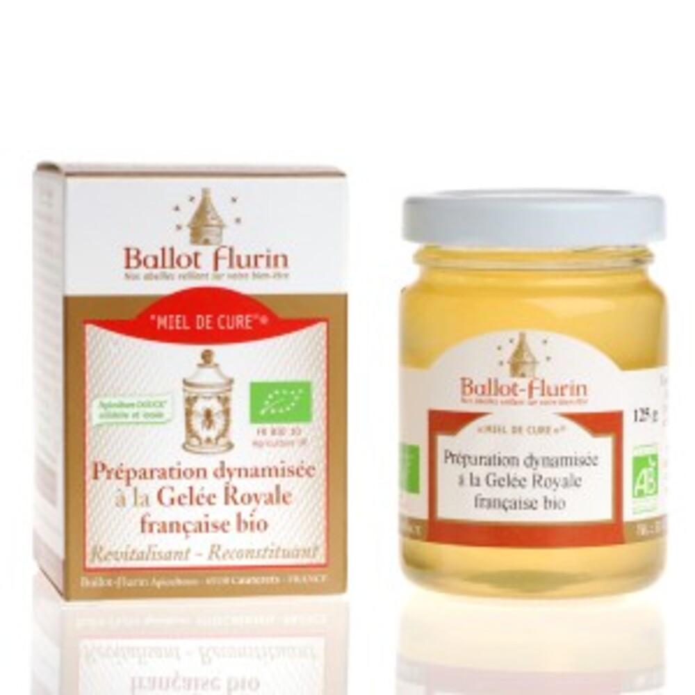 Miel de cure - miel hautes pyrénées et gelée royale bio - 125.0 g - apithérapie pure - ballot flurin -11569