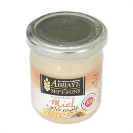 Miel + gelée royale 4 % - 250 g - divers - abbaye de sept-fons -133285