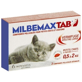 Milbemaxtab chat chaton de 0,5 à 2kg - novartis -204794
