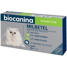 Milbetel vermifuge chats de 2 à 16 kg - 2 comprimés - biocanina -206036