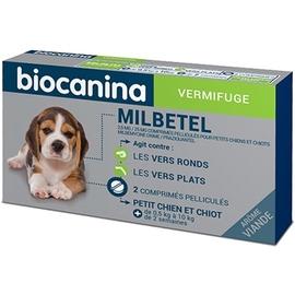Milbetel vermifuge petit chien et chiot 0,5 à 10 kg - 2 comprimés - biocanina -206037