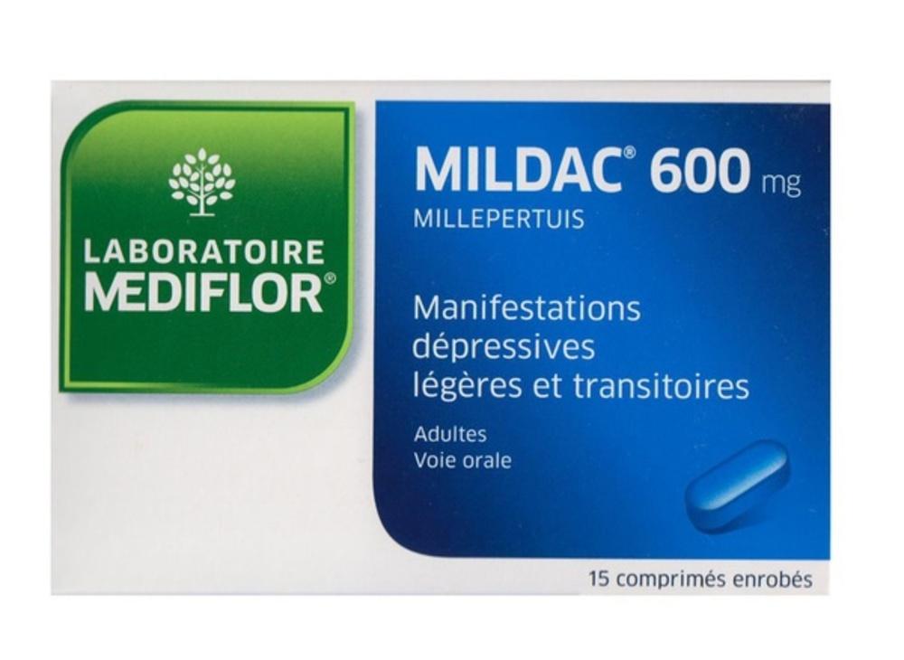Mildac 600mg - 15 comprimés - mediflor -192554