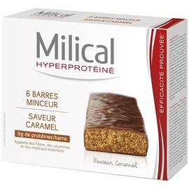 Milical barres minceur caramel x6 - 6.0 unites - hyperprotéinée - milical -7356