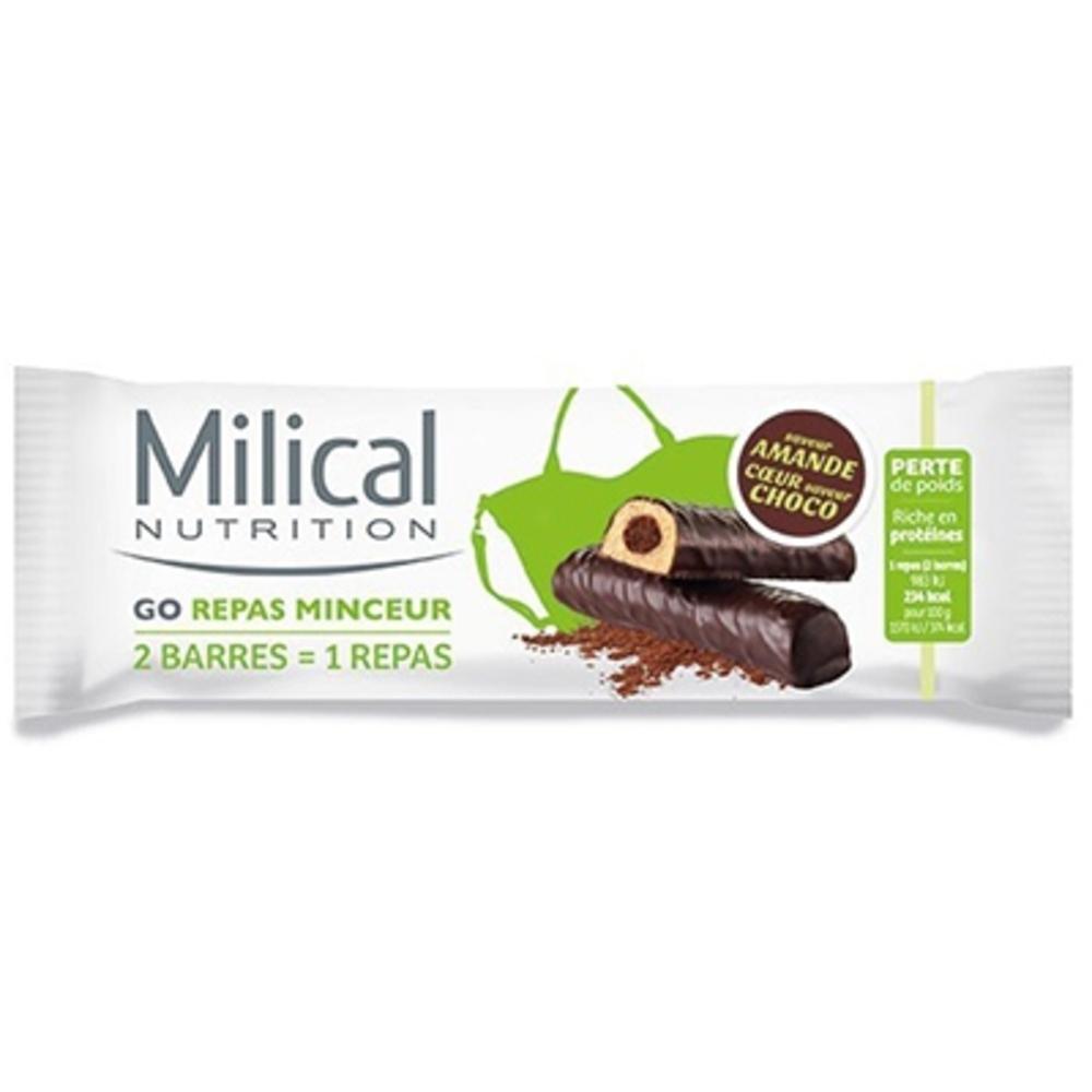 MILICAL Barres Repas Minceur Amande Chocolat x2 - Milical -204139