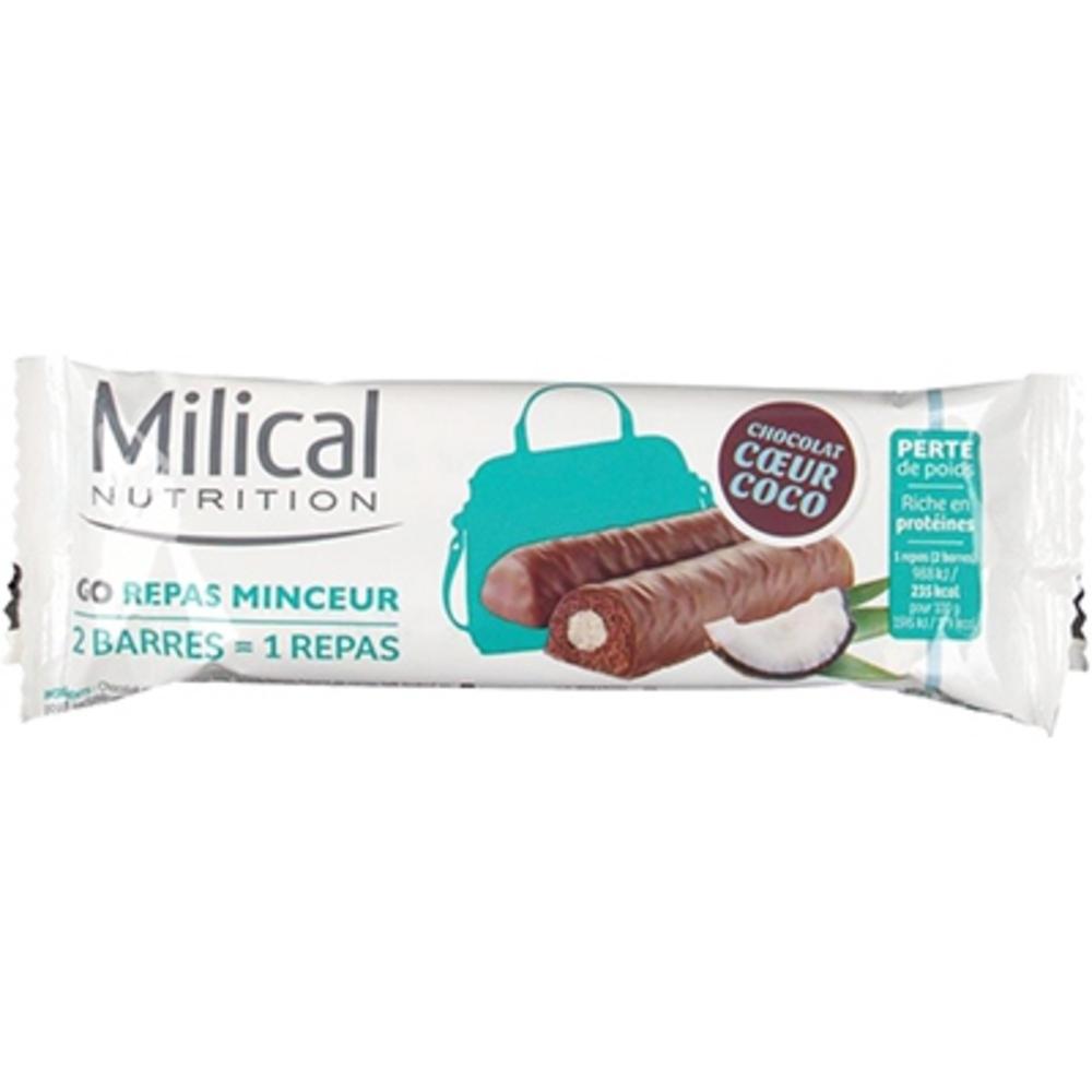 MILICAL Barres Repas Minceur Chocolat Coco x2 - Milical -204140