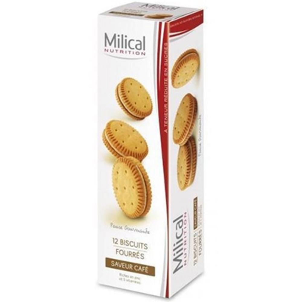 MILICAL Biscuits Fourrés Café x12 - divers - Milical -189526