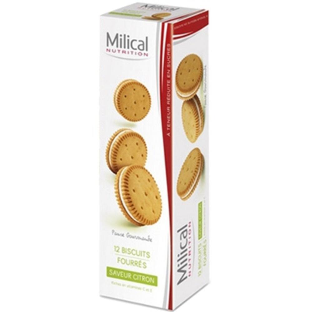 MILICAL Biscuits Fourrés Citron x12 - Milical -195980