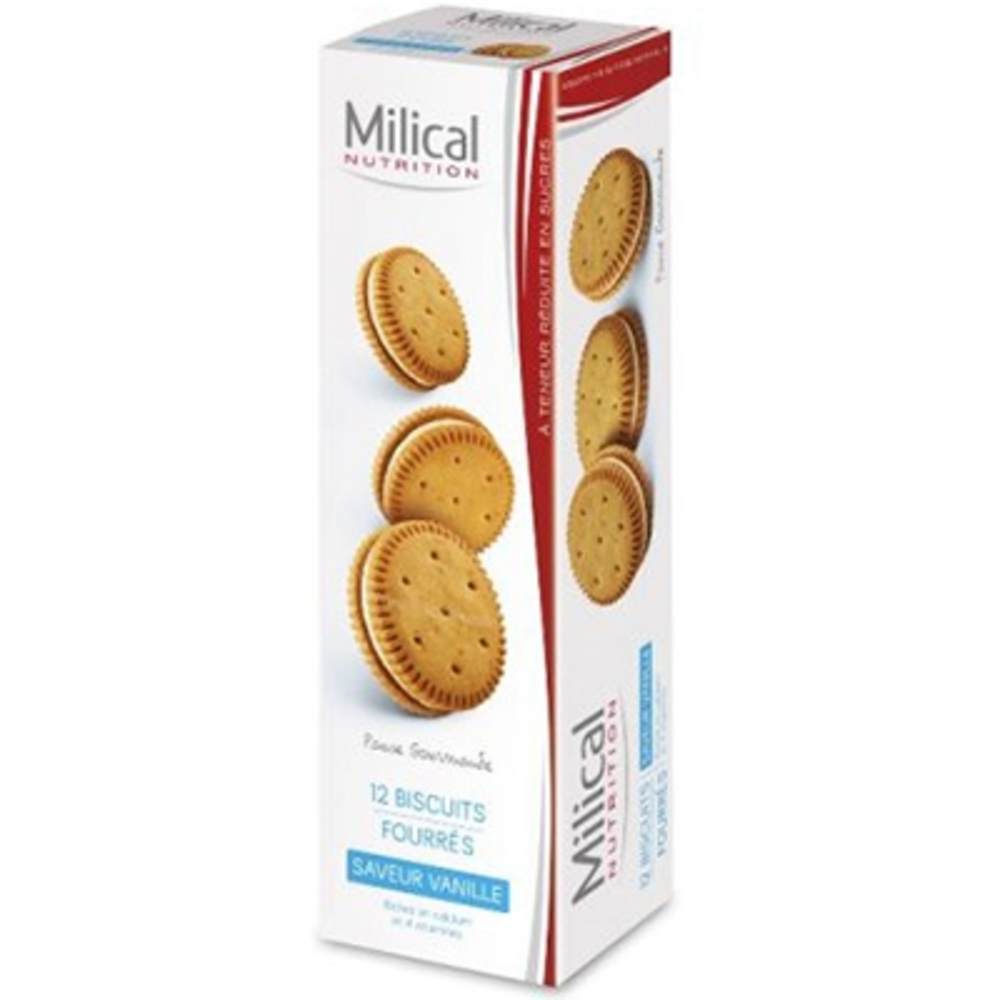 Milical biscuits fourrés vanille x12 Milical-195982