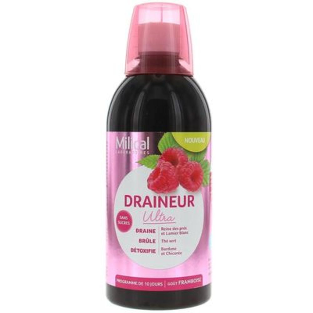 Milical draîneur ultra framboise 500ml - milical -221782