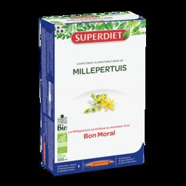 Millepertuis bio - 20 ampoules - 20.0 unites - détente - sommeil - super diet Bon moral-104061