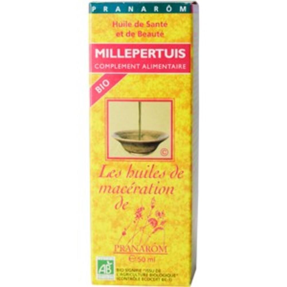 Millerpertuis bio (extrait lipidique) - 50.0 ml - huiles végétales - pranarom peaux fragiles, rougies et irritées-12398