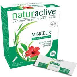 Minceur thé vert & hibiscus 15 sticks - naturactive -204903