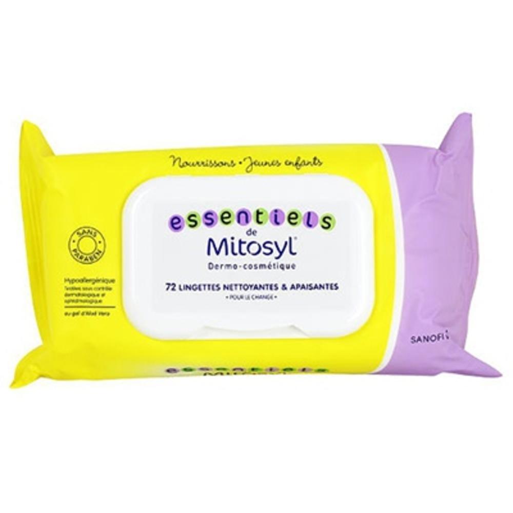 Mitosyl lingettes nettoyantes apaisantes x72 - 72.0 unites - lingettes - mitosyl -141436