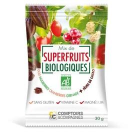 Mix de superfruits + éclats de fève de cacao torrefies bio... - divers - comptoirs & compagnies -141897
