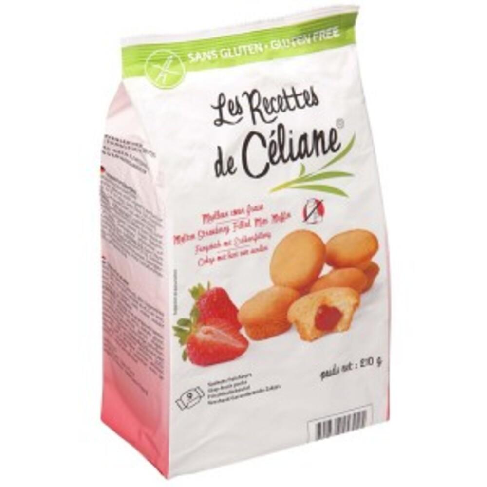 Moelleux coeur fraise - 210 g - divers - les recettes de celiane -136738