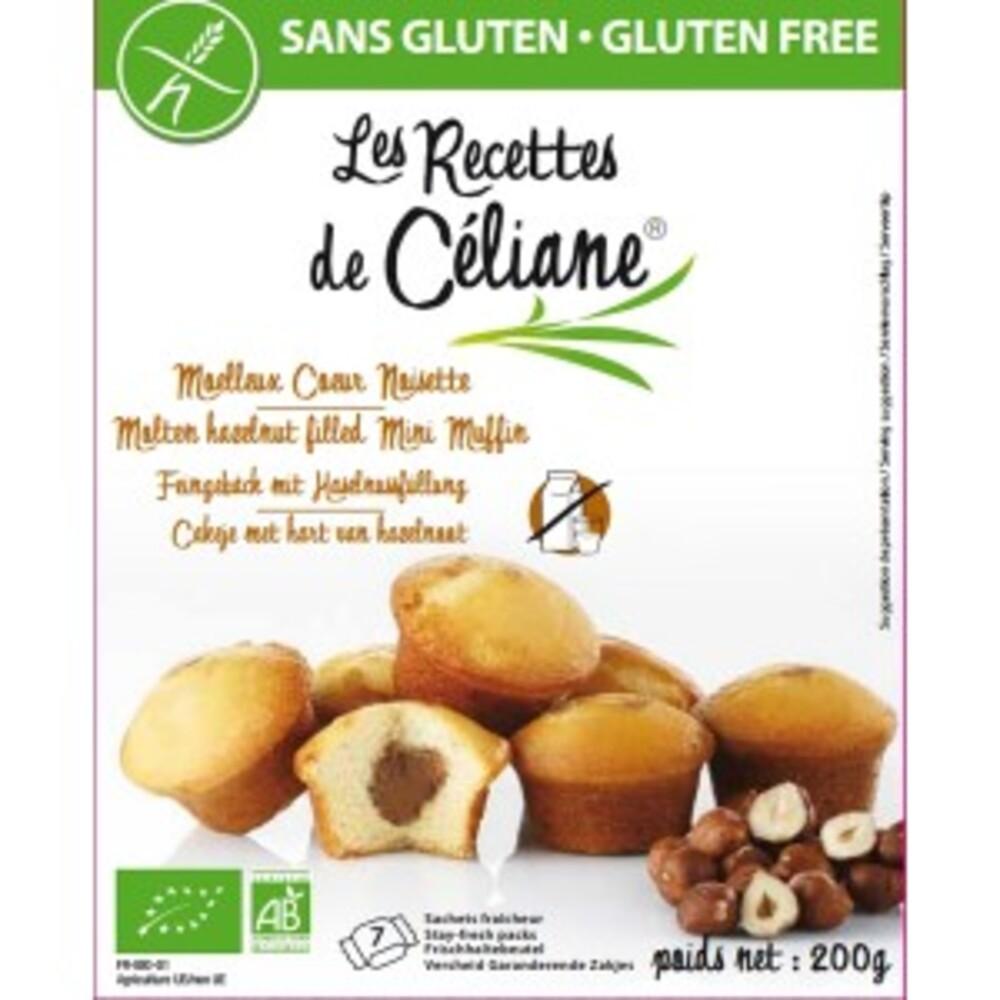 Moelleux coeur noisette bio (x 7) - 200 g - divers - les recettes de celiane -143394