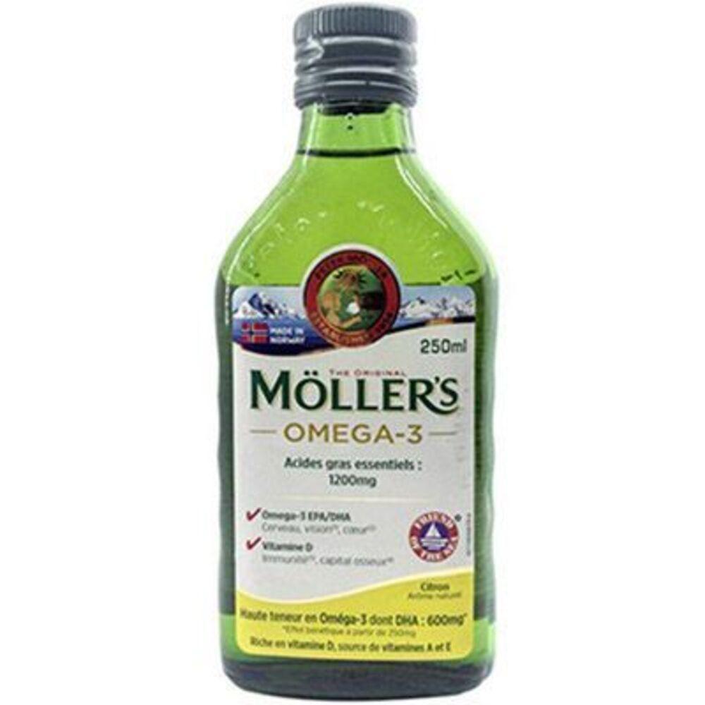 Moller's omega 3 citron 250ml - mollers -223413