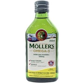 Moller's omega 3 citron 250ml - mollers -223413