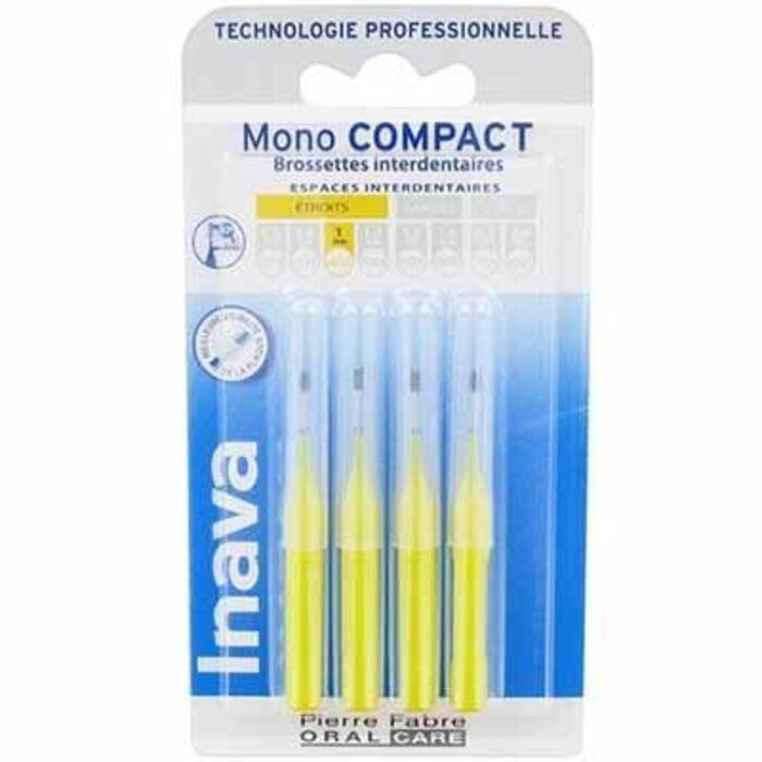 Mono compact etroit 1mm - 4 brossettes interdentaires Inava-224864