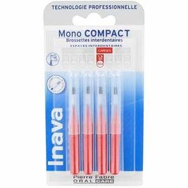 Mono compact large 1,5mm - 4 brossettes interdentaires - 4.0 u - inava -224866