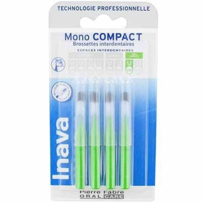 Mono compact très large 2,2mm - 4 brossettes interdentaires Inava-224868