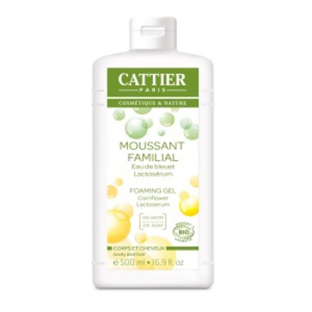 Moussant familial au lactosérum bio - 500.0 ml - gels douche - cattier Corps et cheveux-1521