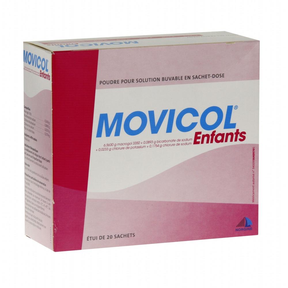 Movicol enfants - 20 sachets - 6.0 g - norgine pharma -193285