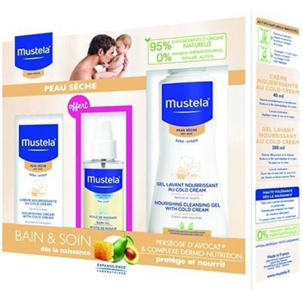 Mustela coffret bébé peaux sèches Duurat-220301
