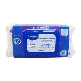 Mustela lingettes visage - lot de 3 - 25.0  - toilette - mustela Nettoie, hydrate, apaise-80